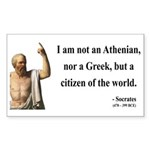 Socrates 10 Rectangle Sticker