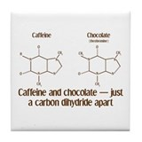 Caffeine & Chocolate Tile Coaster