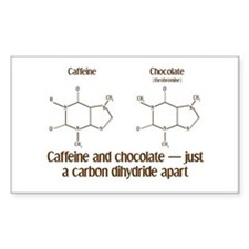 Caffeine & Chocolate Rectangle Decal