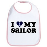 I Love My Sailor Bib