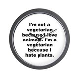 I'm a vegetarian Wall Clock