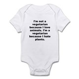 I'm a vegetarian Infant Bodysuit