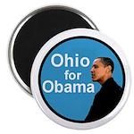 Ohio for Obama blue Magnet