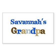 Savannah's Grandpa Rectangle Decal