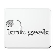Knitty fuzzy mousepad