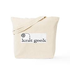 Knit geek knittying tote-y