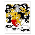 Albrecht Family Crest Small Poster