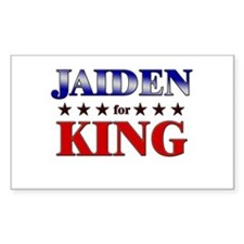 JAIDEN for king Rectangle Decal