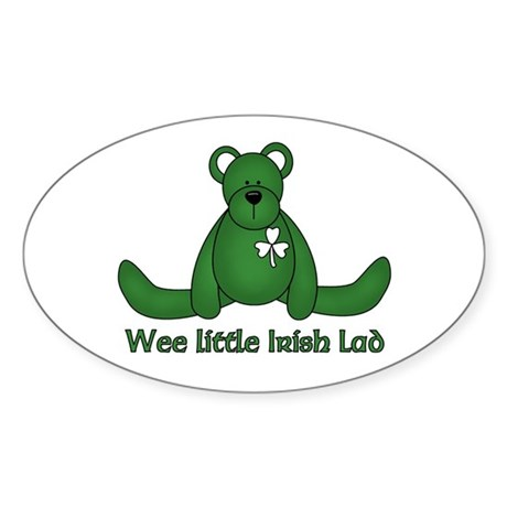 Wee little Irish Lad Oval Sticker