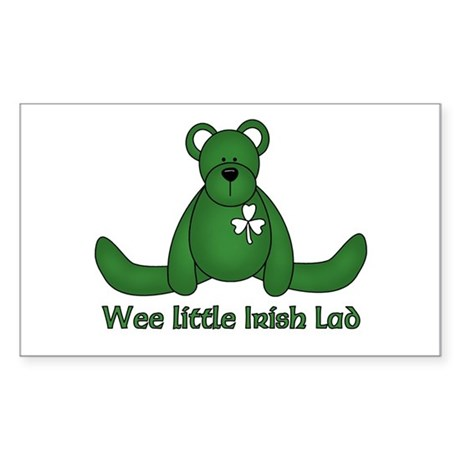 Wee little Irish Lad Rectangle Sticker