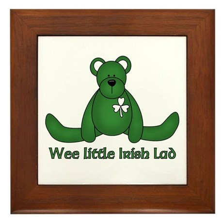 Wee little Irish Lad Framed Tile