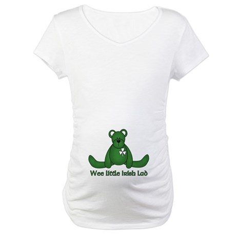 Wee little Irish Lad Maternity T-Shirt