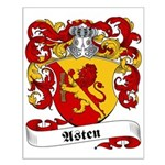 Asten Family Crest Small Poster