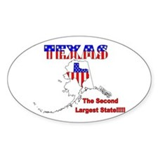 Alaska is the Biggest! Oval Decal