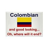 Good Looking Colombian Rectangle Magnet