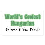 World's Coolest Hungarian Rectangle Sticker