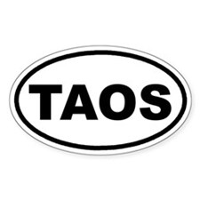 TAOS, New Mexico Euro Oval Decal