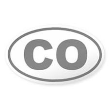 CO Colorado Euro Oval Decal