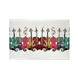 ViolinSwirls Rectangle Magnet