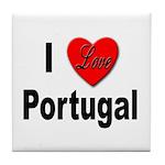 I Love Portugal Tile Coaster