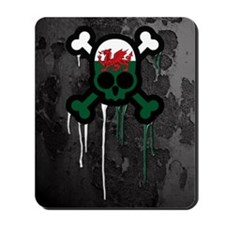 Welsh Punk Skull Mousepad