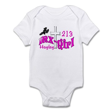 Haley's fans motocross Infant Bodysuit