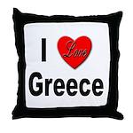 I Love Greece Throw Pillow