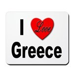 I Love Greece Mousepad