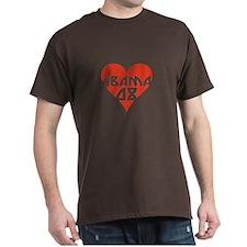 OBAMA 08 RETRO RED HEART T-Shirt