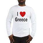 I Love Greece Long Sleeve T-Shirt