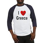 I Love Greece Baseball Jersey