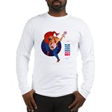 Play that funky music, white boy! Long Sleeve T-Sh