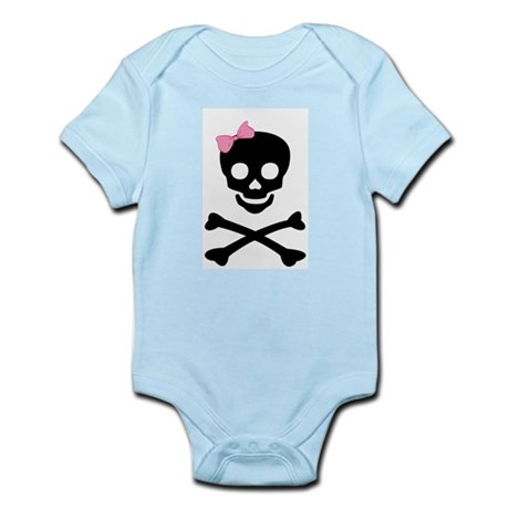 little (girl) pirate Infant Bodysuit