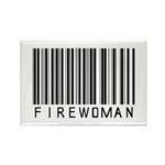 Firewoman Barcode Rectangle Magnet (100 pack)