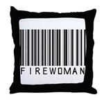 Firewoman Barcode Throw Pillow