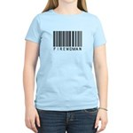 Firewoman Barcode Women's Light T-Shirt