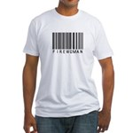 Firewoman Barcode Fitted T-Shirt