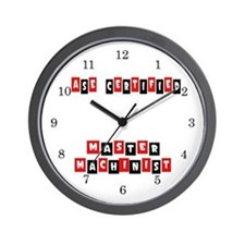 ASE Certified Master Machinist Wall Clock
