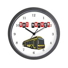 Bus Driver Wall Clock