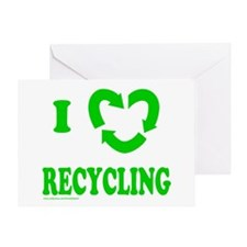 I LOVE RECYCLING Greeting Card