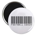 Football Coach Barcode Magnet
