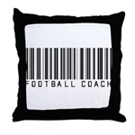 Football Coach Barcode Throw Pillow