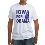 Iowa for Obama Fitted USA T-Shirt