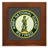 National Guard Retired <BR> Framed Tile