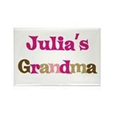 Julia's Grandma Rectangle Magnet