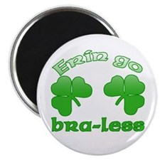 """Erin Go Bra-less 2.25"""" Magnet (100 pack)"""