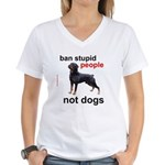 Rottweilers! Women's V-Neck T-Shirt