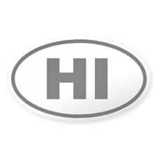 HI HAwaii Euro Oval Decal