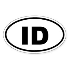 ID Idaho Euro Oval Decal