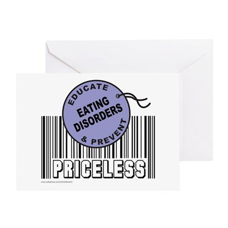 EDUCATE AND PREVENT EATING DISORDERS Greeting Card